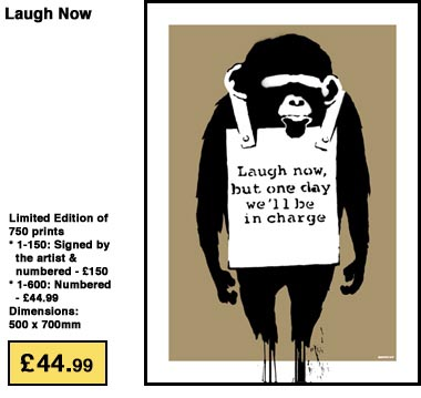 Banksy Laugh Now Print POW