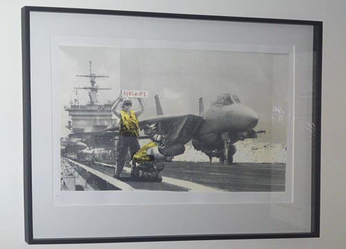 banksy print applause