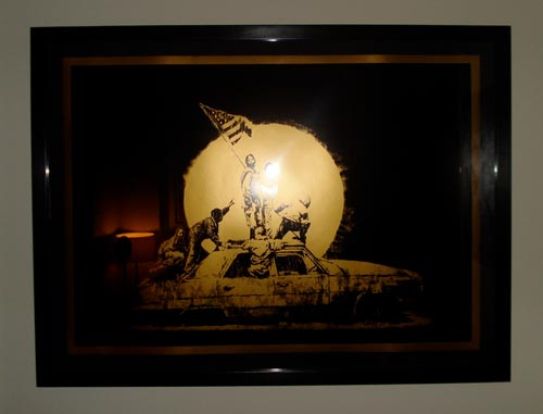 Banksy print Gold Flags
