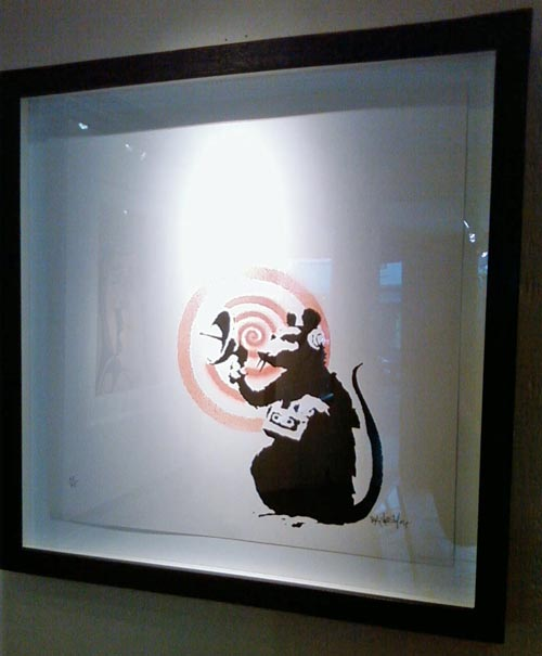 Banksy Print Radar Rat Framed
