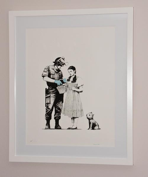 Banksy Print Stop and Search