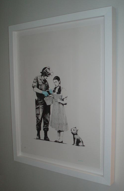 Banksy Print Stop and Search Framed
