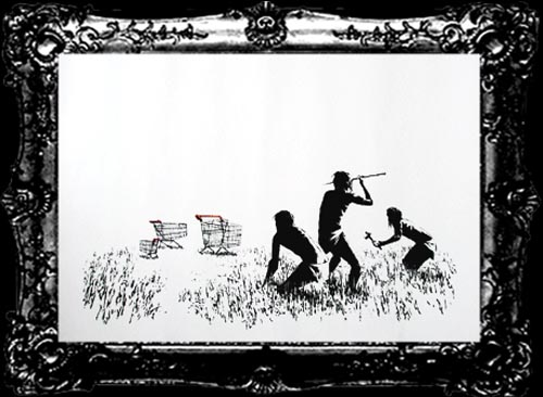 Banksy Print Trolleys