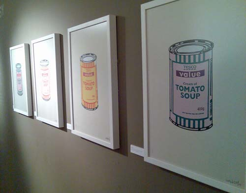 Banksy Prints Tesco Soup Framed