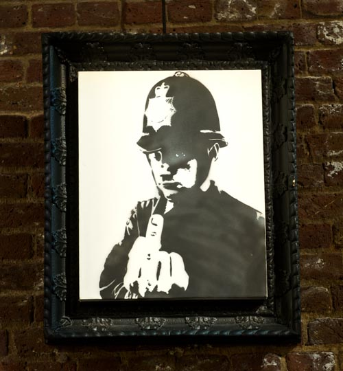 Banksy Rude Copper Canvas