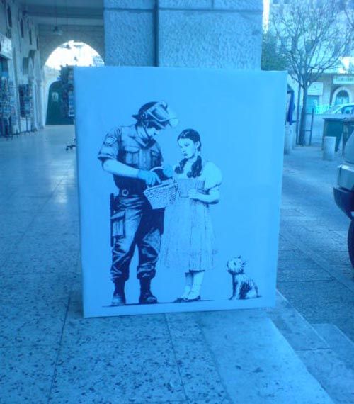 Banksy Stop and Search Canvas