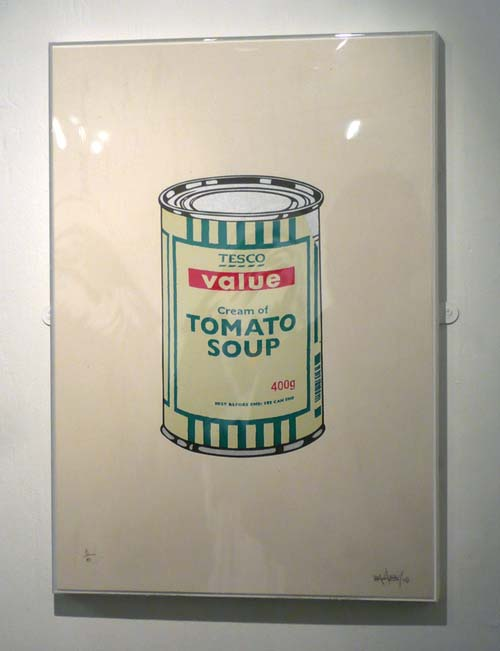 Banksy Tescos Soup Can Signed Print