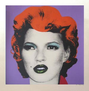 Banksy Print Kate Moss Colourways